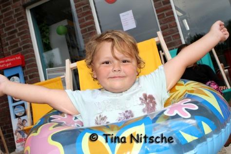 Endlich Urlaub!!!!!! Der kleine Finn gönnte sich am Freitag eine echt tolle Auszeit - auf italienisch versteht sich! Foto: Tina Nitsche